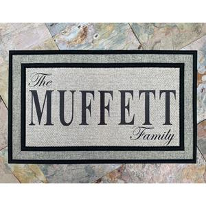 Send your clients a doormat with their family's name on it.  It's a personalized gift, useful, and s