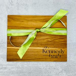 """10"""" wide by 13"""" long, this beautiful hardwood cutting board is 3/4 """" thick and makes a wonderful gif"""