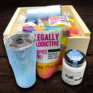 Send someone a beach vacation with this gift box packed with goodies. Legally Addictive cookies are