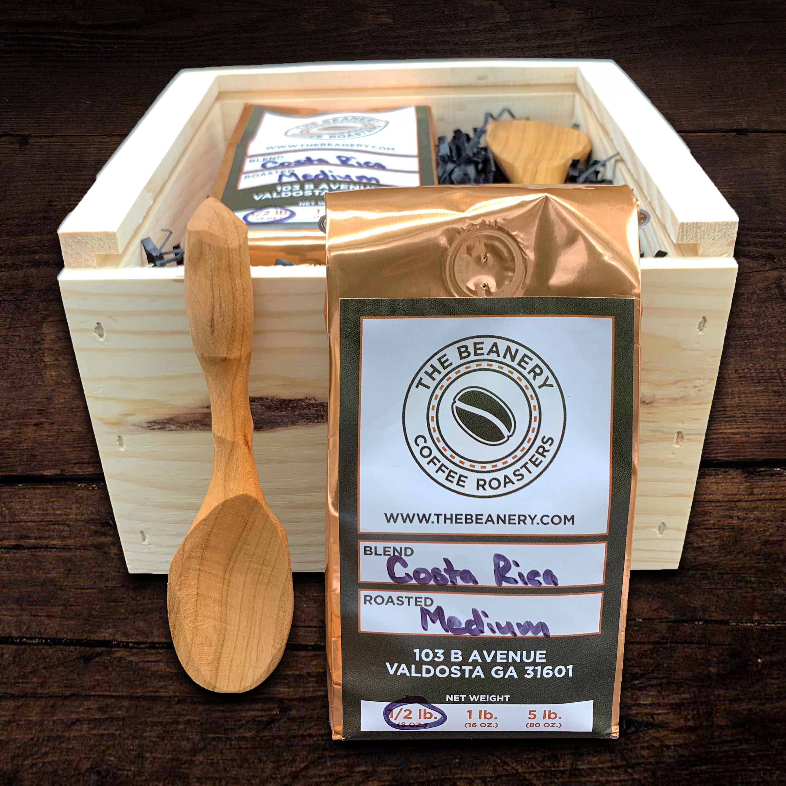 The artisans at The Beanery Coffee Roasters have handcrafted the perfect gift for coffee lovers.  Th