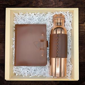 For those times you want to write and write, this handcrafted notebook features top-grain leather wi