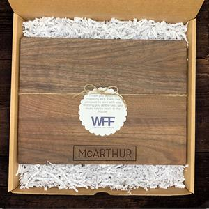 If your clients are homeowners, send them a personalized cutting board and they'll never forget you.