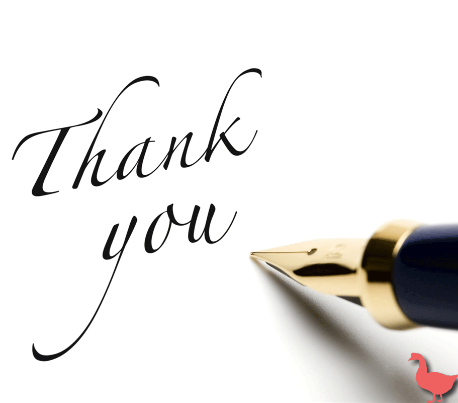 Send a thoughtful customized handwritten thank you note to your clients thanking them for their busi