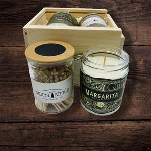 You will love the custom blended fragrances of this margarita candle handmade in Charleston, SC.  Th