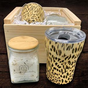 Who wouldn't love to receive this stylish cheetah-patterned tumbler? Treat a friend, teacher or co-w